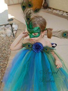 Peacock-peacock costume, peacock tutu costume, custom costume