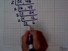 ▶ Using upside down birthday cake to find the greatest common factor (GCF) - YouTube