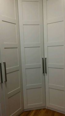 ikea pax wardrobe with bergsbo doors home pinterest wardrobes doors and ikea pax. Black Bedroom Furniture Sets. Home Design Ideas