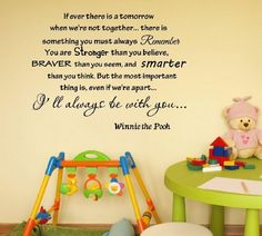 SO SWEET - Newsee Decals If ever there is tomorrow when we're not together... - Winnie the Pooh