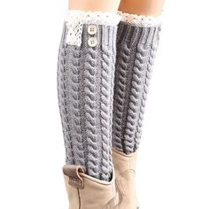Buttons N Lace Leg Warmers