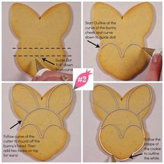These tips will make outlining the bunny cookie so easy! New blog post from Flour Box Bakery - How to Decorate an Easter Bunny