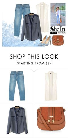 """""""All SheIn set"""" by roohani ❤ liked on Polyvore featuring мода, Acne Studios, Manolo Blahnik, denim, Sheinside, vest и shein"""