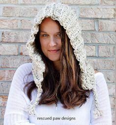 The Penny Hood Tassel Fall & Winter Hooded Hat by RescuedPaw
