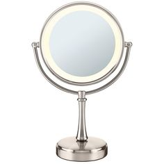 Conair Touch Control Lighted Vanity Mirror, Grey (110 CAD) ❤ liked on Polyvore featuring home, bed & bath, bath, bath accessories, fillers, grey, round vanity mirror, gray bath accessories, grey bathroom accessories and lighted cosmetic mirror