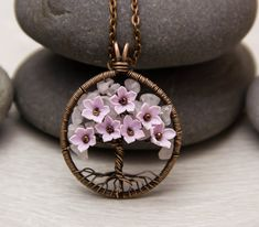 Tree-Of-Life Necklace Pendant Copper Wire Wrapped by JewelryFloren
