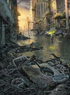 """Urban"" Book 4 cover, Roberto Ricci on ArtStation at https://www.artstation.com/artwork/rKRQe"