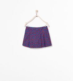FLORAL PRINT PLEATED SKIRT from Zara Girls
