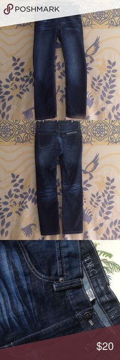 Mens jeans 32x30 Mens jeans medium dark faded wash, 53% cotton, 47% polyester, made in Pakistan. Seems like a slim fit, not skinny. Unused, excellent condition. Accepting questions, trades and offers. Can also provide a bundle discount. PD&C Jeans