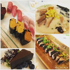 Awesome dinner at Yuzu sushi with my Japanese friends. Went there for Tonkotsu ramen and ended up having sushi feast with desserts thanks to the owner  #yuzu #sushi #katsuo #tataki #tonkotsu #ramen #uni #ikura #bluefin #tuna #otoro #naruto #japanese #foodporn #davie #soflo by bl4ckdr4gon