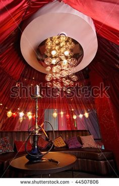 stock photo : Room in east style for hookah smoking