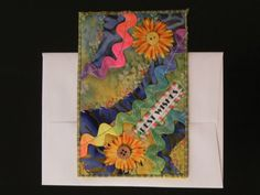 Best Wishes Quilted Postcard ♥ by QuiltNutz on Etsy, $8.50