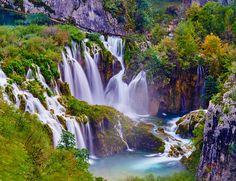 Lagos de Plitvice (Croacia) El parque natural en el que se encuentran tiene 33.000 hectáreas, aunque las 90 cascadas, los 20 lagos interconectados y el magnífico bosque de hayas que atrae a la mayoría de los viajeros ocupa solo 800.