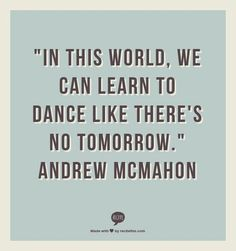 'Learn to Dance' Andrew McMahon