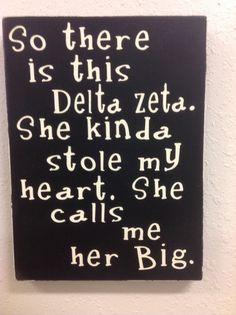 Delta Zeta big sign, primitive sign , Delta Zeta sorority gift, big little gift