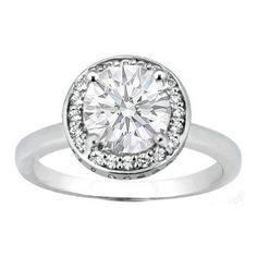 Round Diamond Engagement Rings in Super Simple Design