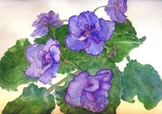 African Violet Painting!