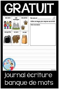 GRATUIT French Writing Prompts with Paperless option - Écriture en français Reading Activities, Classroom Activities, Communication Orale, French Worksheets, Resume Words, French Immersion, Interactive Learning, Classroom Language, Learning Styles
