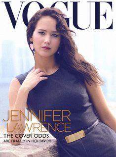 "Jennifer Lawrence.   16 Fabulous Fantasy ""Vogue"" Covers"