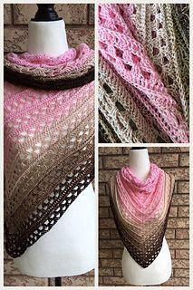 Amorous crochet shawl pattern