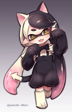 This just reminds me of Neo from RWBY | イカらくがき詰め #SquidSisters #Callie #Judd