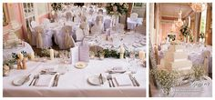 Danesfield House Wedding - classic white flowers & centrepieces Flowers & decor by Seventh Heaven Events #seventhheavenevents
