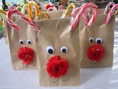 Reindeer treat bags would be cool to do in class!