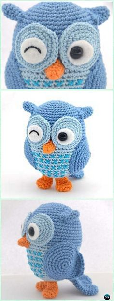 Crochet Amimigurumi Jip the Owl Free Pattern-Amigurumi Crochet Owl Free Patterns Owl Crochet Pattern Free, Crochet Design, Bag Crochet, Crochet Owls, Crochet Patterns Amigurumi, Crochet Animals, Crochet Crafts, Crochet Baby, Crochet Projects