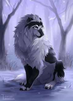 Trendy how to draw anime wolf animation Ideas Mystical Animals, Mythical Creatures Art, Mythological Creatures, Magical Creatures, Pet Anime, Anime Animals, Cute Animals, Anime Male, Anime Oc