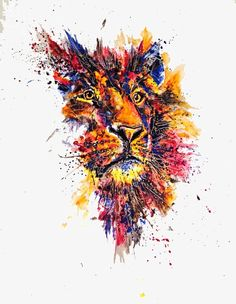 Colorful and Expressive Artworks by Emily Tan Watercolor Lion, Watercolor Animals, Watercolor Paintings, Lion Painting, Tableau Design, Lion Wallpaper, Lion Art, Canvas Designs, Lion Tattoo