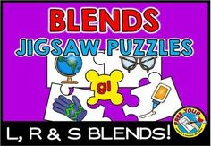 #BLENDS #JIGSAW #PUZZLES - L BLENDS, R BLENDS & S BLENDS! #LITERACY #CENTER FUN  Do you want your students to revise #initial blends in an interactive and fun way? This resource is just for you! These cute and original 5-piece jigsaw puzzles are ideal to use during lessons, in literacy centers and home-schooling.   This resource contains 20 initial blends jigsaw puzzles. BLENDS INCLUDED IN THIS PRODUCT: bl, cl, fl, gl, pl, sl, br, cr, dr, fr, gr, pr, tr, sc, sk, sm, sn, sp, st, sw.