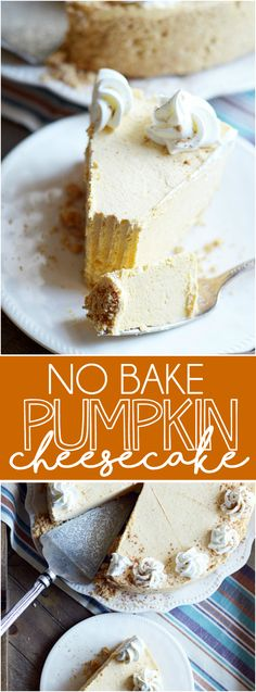 Easy, creamy, delicious no-bake pumpkin cheesecake with a thick, buttery graham…