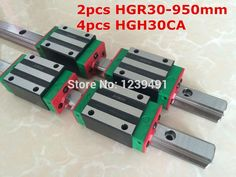 206.15$  Watch now - http://aliw7n.worldwells.pw/go.php?t=32533794801 - 2pcs HIWIN linear guide HGR30 - 950mm  with 4pcs linear carriage HGH30CA CNC parts 206.15$