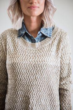 The Seattle Sweater in Mocha