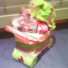 Baby Shower Diaper Carriage