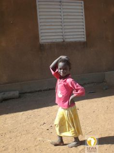 Girl in Koumandougou, Burkina Faso, West Africa