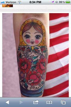 Nesting doll tattoo