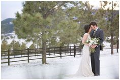 Ranch Mountain Wedding | Green + White Bouquet | Spruce Mountain Ranch | Snowy Winter Wedding | Gray Suit | Cattle Ranch | Mountain Wedding | Sarah Roshan www.sarahroshanphoto.com