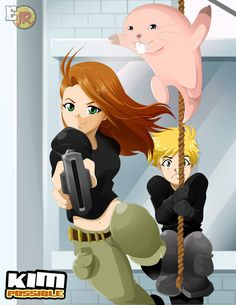 Anime version lol Kim Possible Kim Possible And Ron, Kim And Ron, Cartoon As Anime, Cartoon Fan, Kim Possible Characters, Anime Titles, American Cartoons, Nickelodeon Cartoons, Anime Version