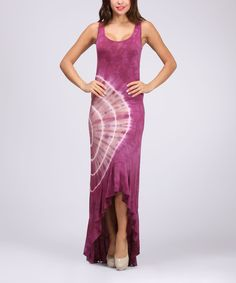 Another great find on #zulily! Urban X Magenta Tie-Dye Sleeveless Hi-Low Maxi Dress by Urban X #zulilyfinds