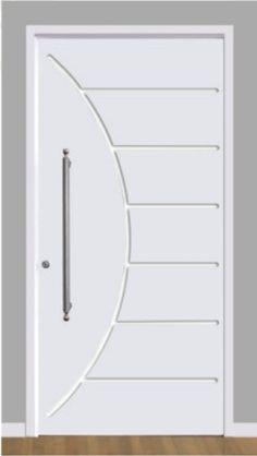 Portas de Entrada branca Bedroom Door Design, Door Gate Design, Front Door Design, Small Modern House Plans, Wooden Main Door Design, Grey Interior Doors, Wooden Front Doors, Bathroom Design Luxury, Apartment Design