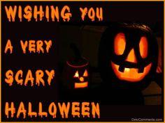 wishing you a scary halloween halloween happy halloween halloween quotes halloween quote happy halloween quotes - Kids Halloween Quotes