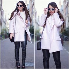 takki + lasit + housut + kengät