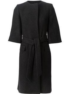Saint Laurent Belted Overcoat - Mantovani - Farfetch.com