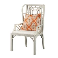 Boulevard Wing Chair by Lilly Pulitzer - Color: Classic White