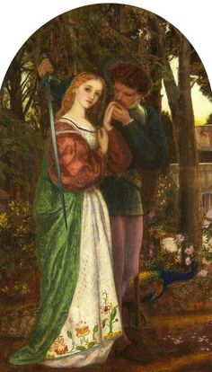 Arthur Hughes - Love… Guard, Windsor Lodge, Putney (Lovers' Tryst)