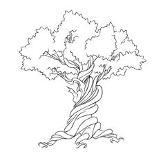 Check out this Earth Day design featuring a twirled and twisted tree, perfect for nature lover and botanic enthusiasts alike. Tree Sketches, Drawing Sketches, Sketching, Free Vector Graphics, Free Vector Art, Vector Clipart, Outline Drawings, Art Drawings, Drawing Heart