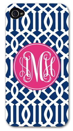 iPhone 5 and 4/4s Tough Case - Monogram iPhone Case - Personalized iPhone Case. $40.00, via Etsy.