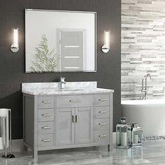 Studio Bathe Kalize II 48 White Single Vanity with Metal Framed Mirror