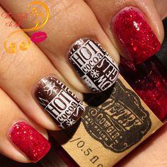 Hot cocoa nail art